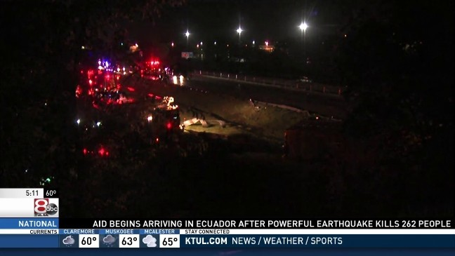 All westbound lanes of I-44 open after cattle truck rollover