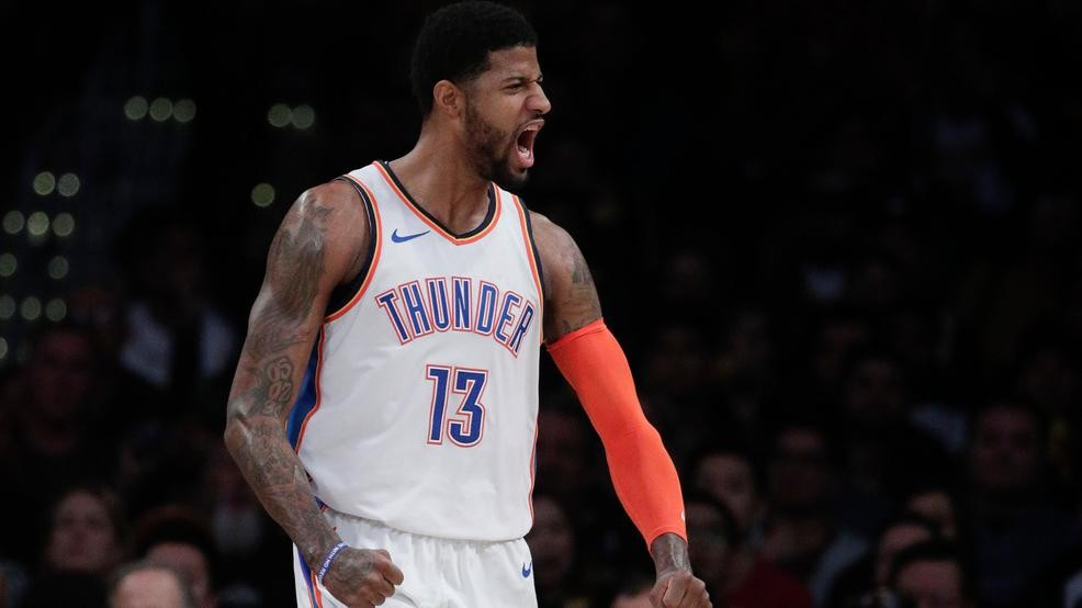 8830a2b4a41a Paul George gets 37 amid boos in OKC s 107-100 win at Lakers