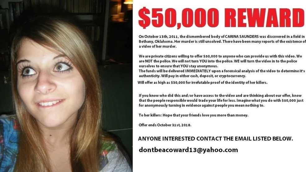 New $50,000 reward offered for video showing murder of Carina