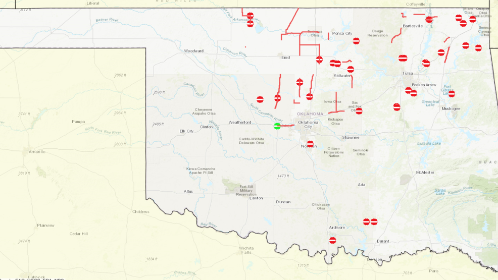 Road Closures Map OK Highway Patrol provide link to updated road closures | KOKH
