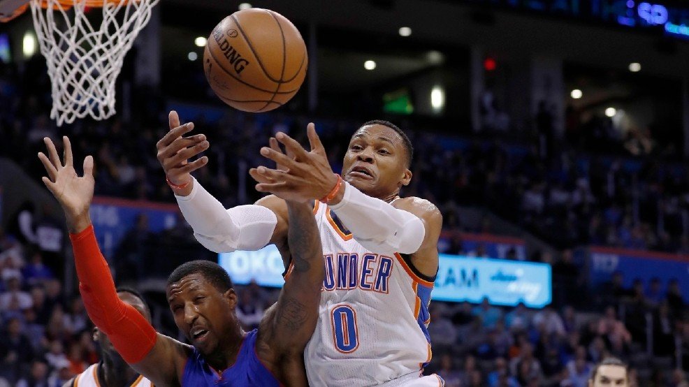 Westbrook has another triple-double, Thunder beat Pistons | KOKH