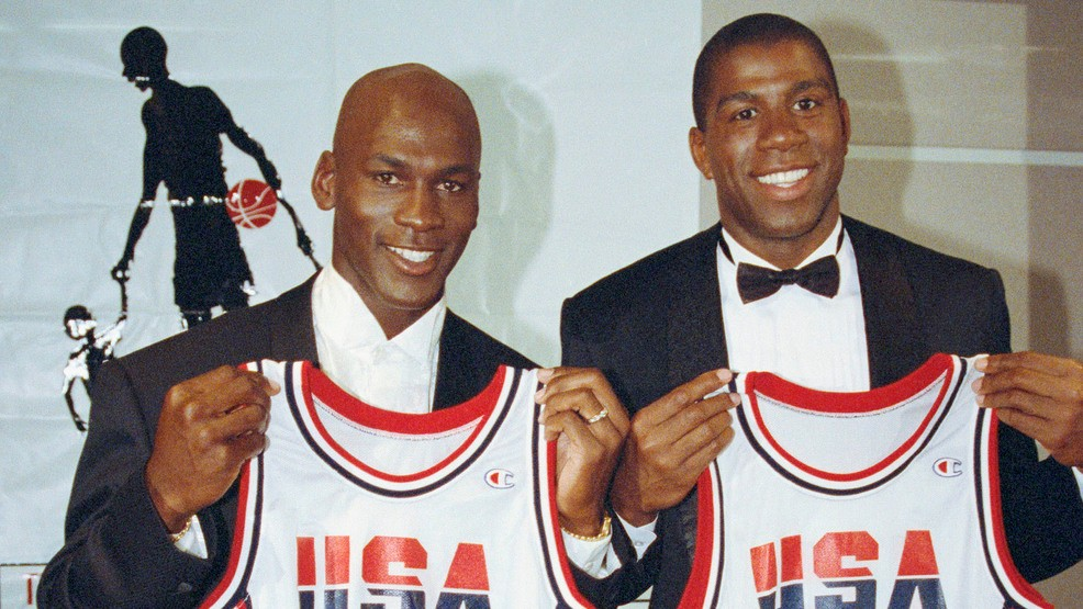 cheap for discount bbeeb 044ca LeBron says he'd want Magic, Jordan as his 3-on-3 teammates ...