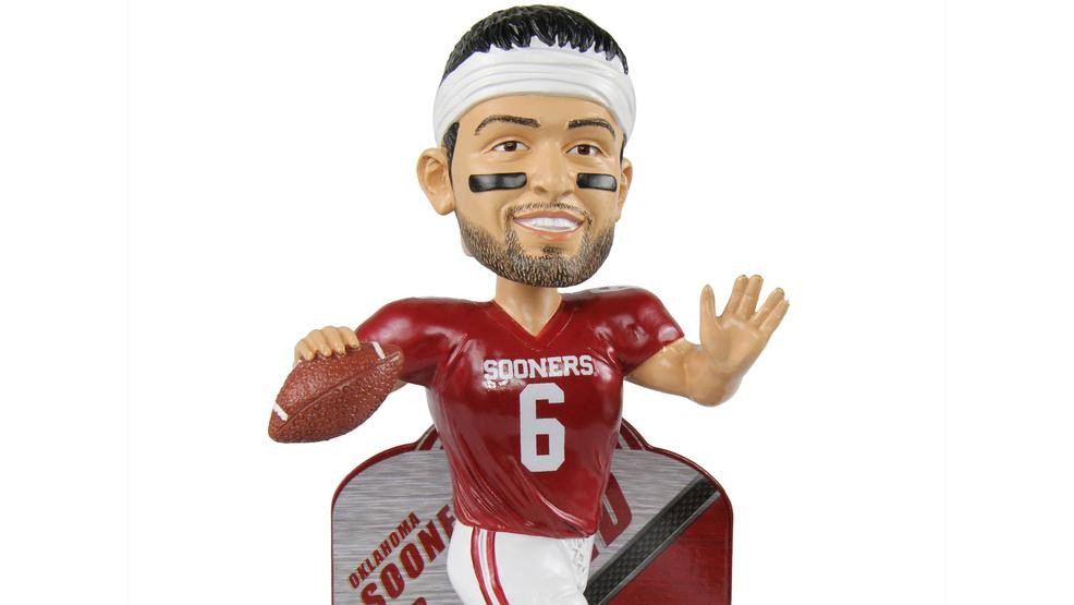 new concept 9d8fa 79881 Mayfield immortalized in Sooners gear in new bobblehead | KOKH