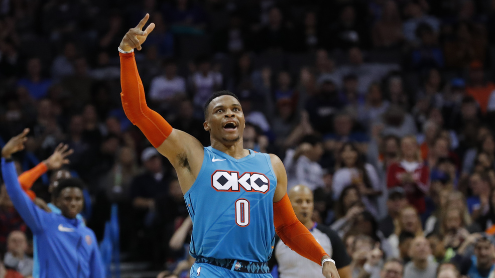 reputable site 590f6 b5f94 Russell Westbrook leads Thunder past Hawks, 124-109 | KOKH
