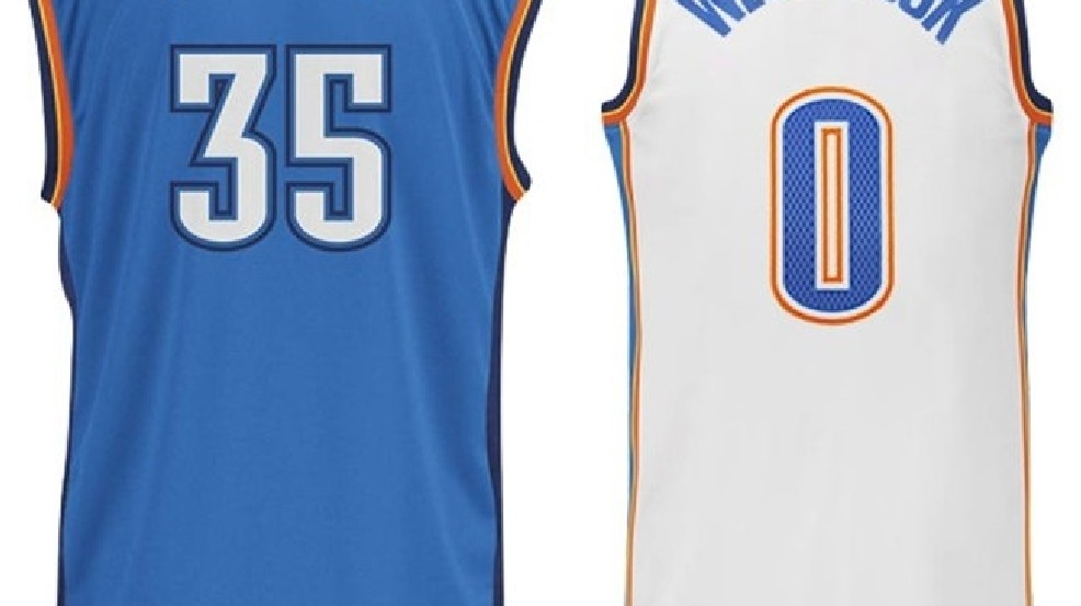 newest 55a8e ff72c OKC Thunder players land in top ten for NBA jersey sales | KOKH